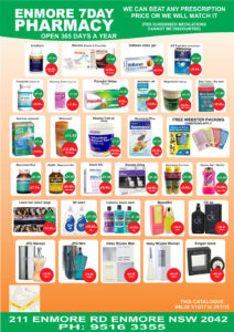 Enmore Pharmacy catalogue
